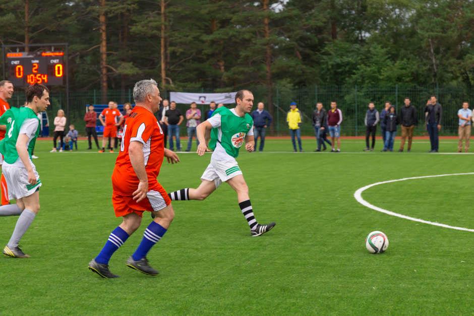 Футбольный матч на стадионе «Металлург». Фото Натальи Яскевич
