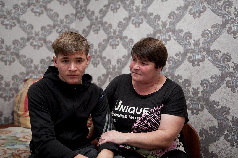 Ольга с сыном Станиславом