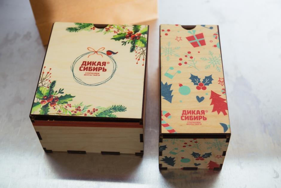 На подарочные наборы к Новому году можно нанести индивидуальный дизайн