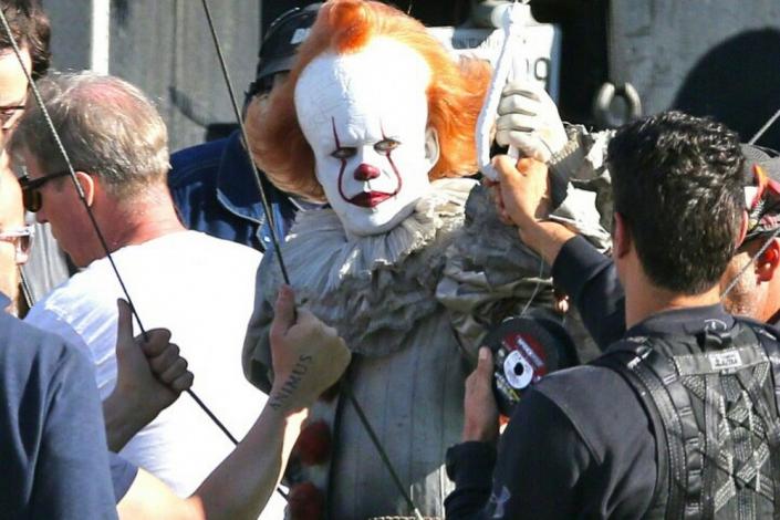 На съемках фильма «Оно 2». Фото с сайта www.kinopoisk.ru
