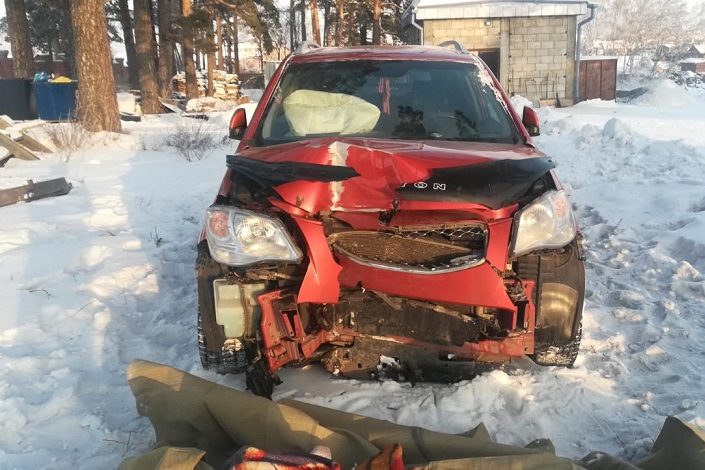 На месте аварии в Иркутском районе