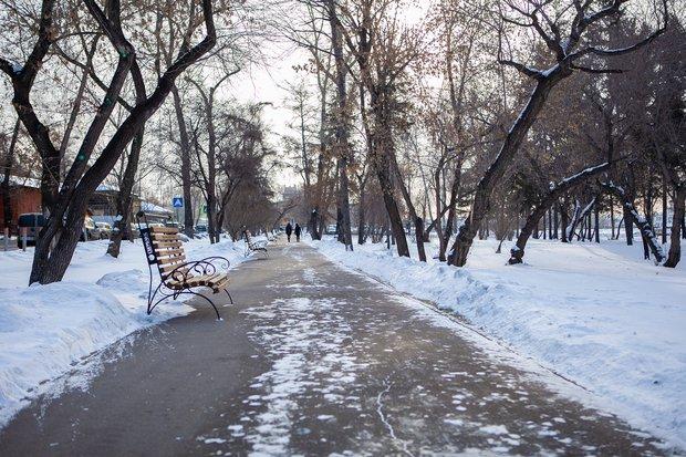 Аллея на бульваре Гагарина