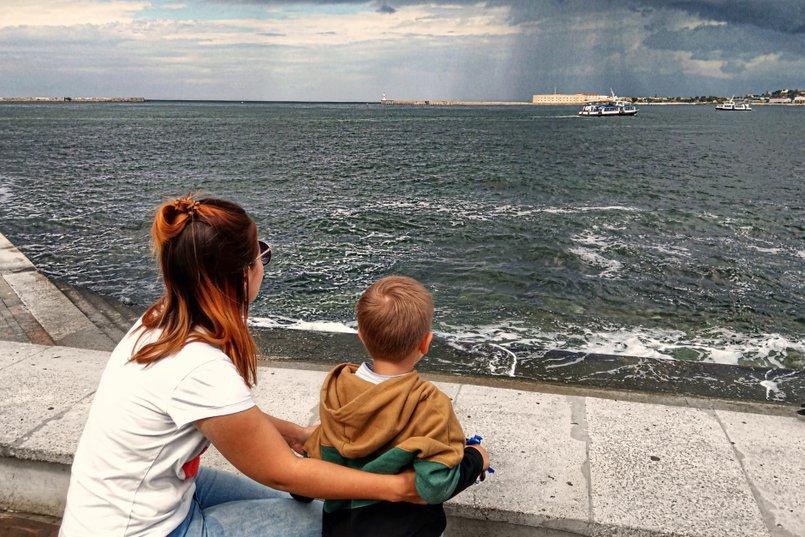 Севастополь, вид на море с площади Нахимова