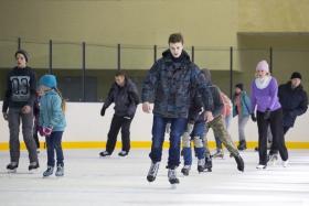 Массовые катания в ледовом дворце «Айсберг»