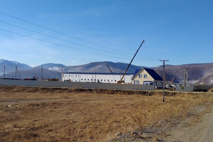 Стройплощадка завода в Култуке
