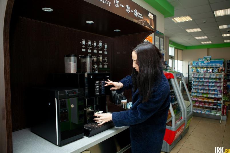 На АЗС можно купить ароматный кофе и свежую выпечку