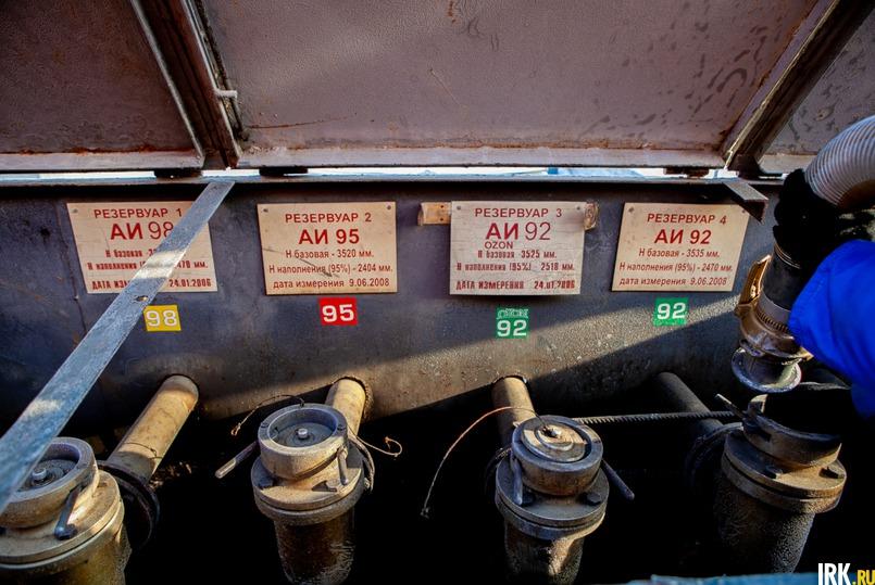 Перед сливом нефтепродуктов в резервуары, они проходят контроль