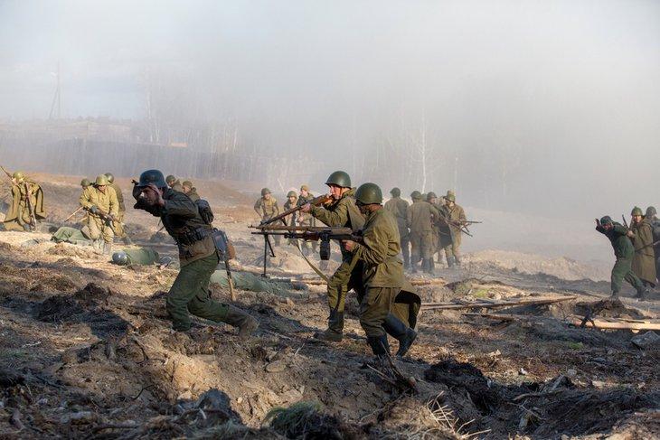 Во время съемок фильма «321-я сибирская дивизия»