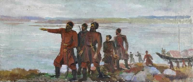 Эскиз к картине. Автор А.П.Жибинов