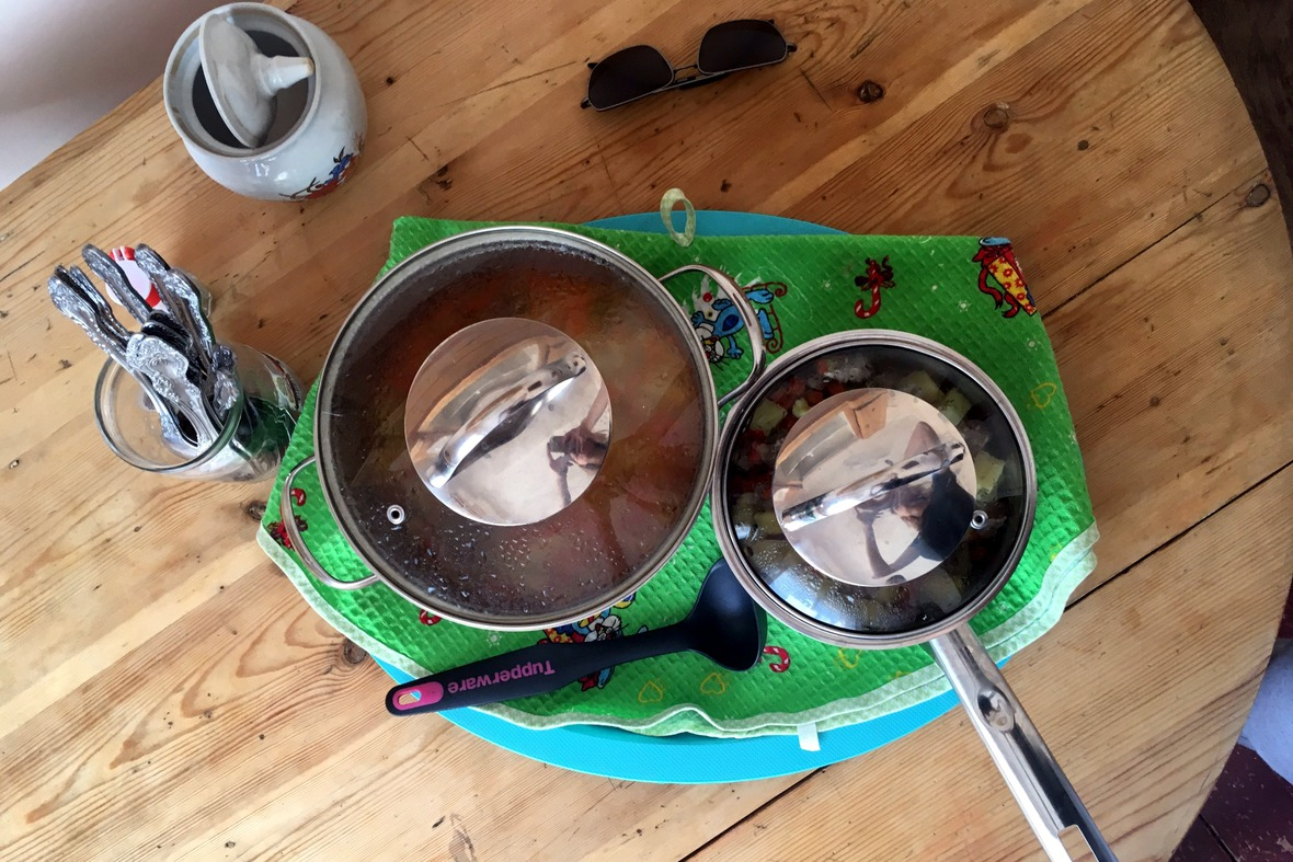 Суп и мясное рагу — 400 рублей