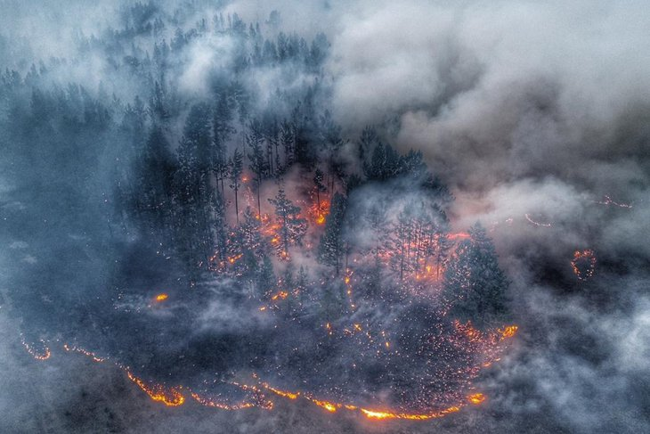 Пожар в Иркутском районе. Фото IRK.ru