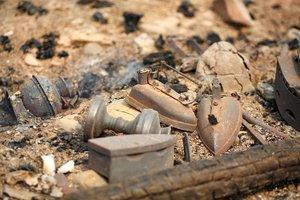 Последствия пожара в Большом Голоустном