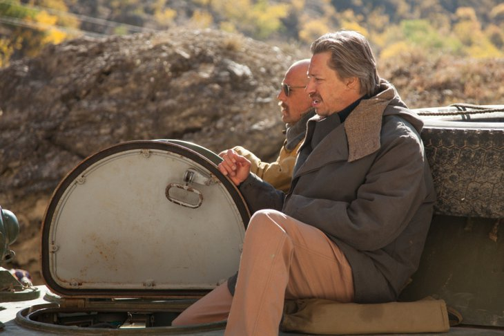 На съёмках фильма «Братство». Фото с сайта www.kinopoisk.ru