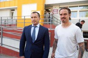Дмитрий Бердников и Андрей Ещенко. Фото со страницы мэра в соцсетях
