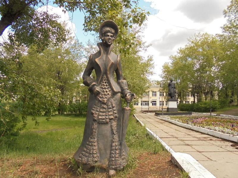 Памятник Даме пушкинской эпохи, г. Черемхово