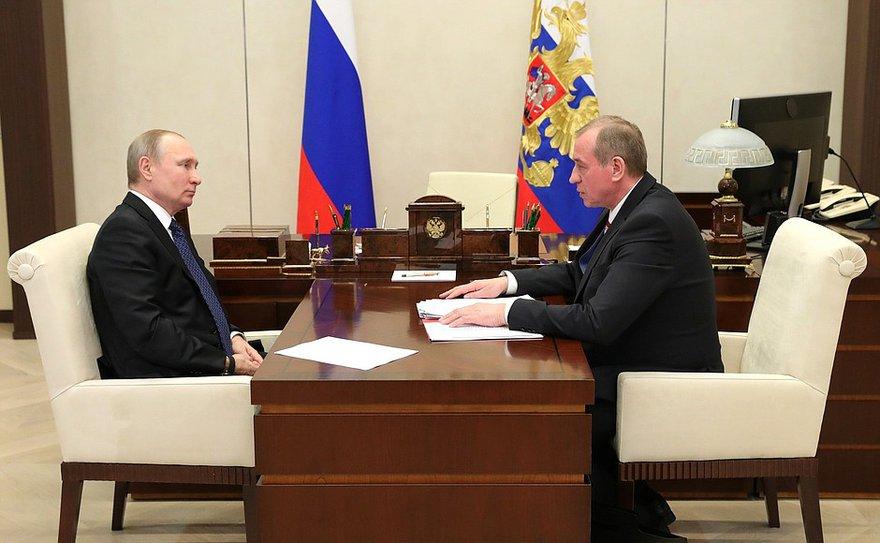 Владимир Путин и Сергей Левченко. Фото kremlin.ru