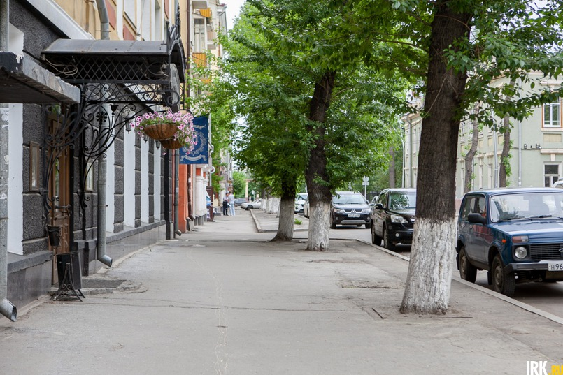 Улица 5-й Армии, здесь обрезали ветки в 2016 году