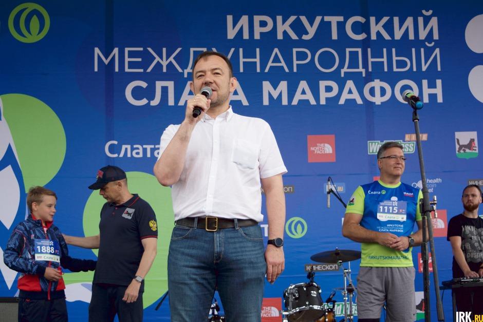 С приветственным словом выступил Виталий Барышников, заместитель мэра — председатель комитета по социальной политике и культуры администрации Иркутска.