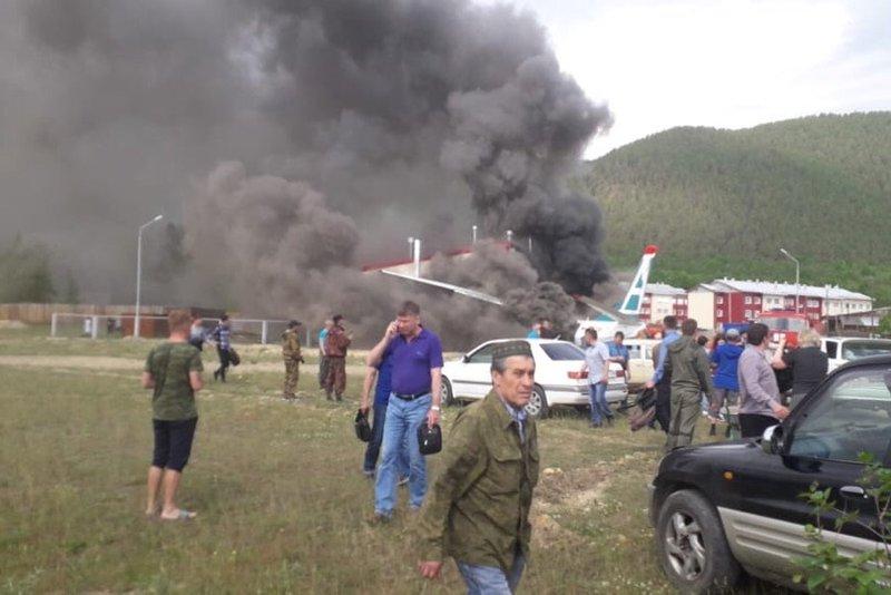 Появилось видео изсалона разбившегося вБурятии самолета