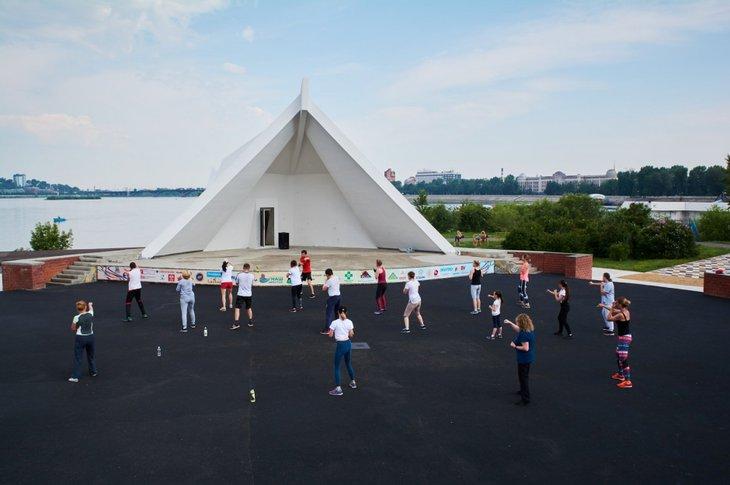 Тренировка на острове Юность. Автор фото — Маргарита Романова