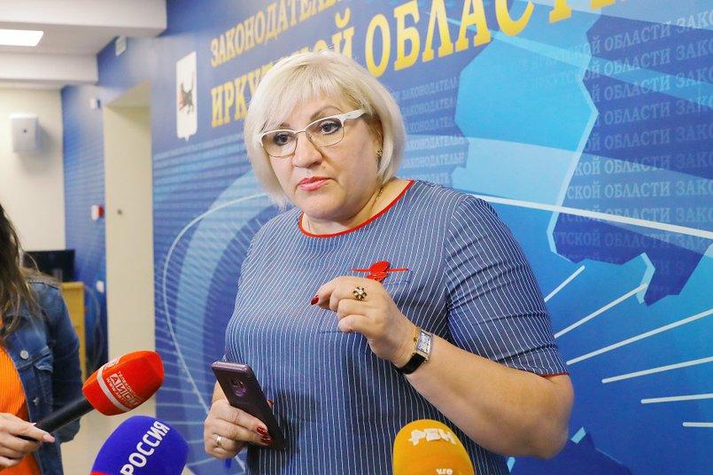 Лариса Егорова. Фото пресс-службы Заксобрания Иркутской области