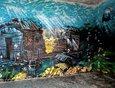 Яркие рисунки создали в нишах на Нижней Набережной.