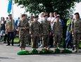 У памятника Василию Маргелову и ветеранам воздушно-десантных войск на бульваре Гагарина состоялся праздничный митинг.