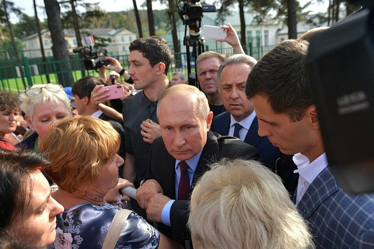 Владимир Путин в Тулуне. Фото kremlin.ru