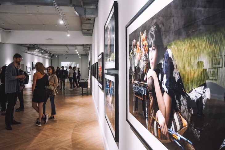 На открытии выставки. Автор фото — Софья Черкасова, vk.com/vbgallery