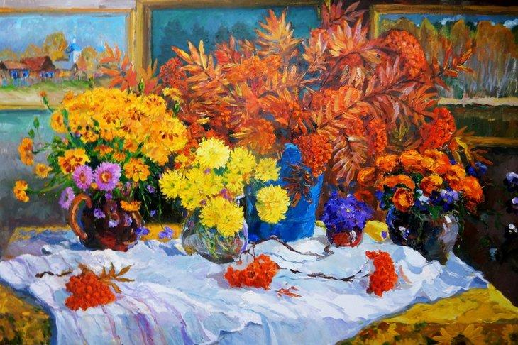 Александр Веснин «Осенний букет». Фото предоставлено Иркутским областным художественным музеем