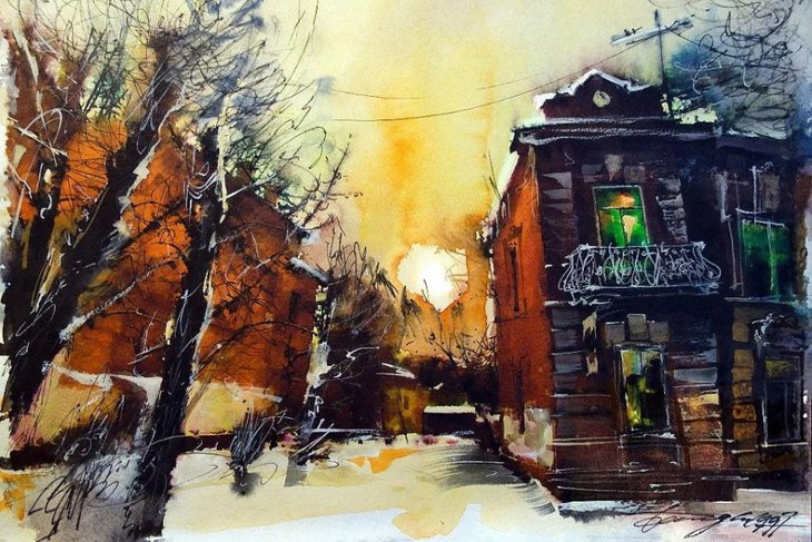 Картина Олега Беседина. Фото предоставлено Иркутским областным краеведческим музеем