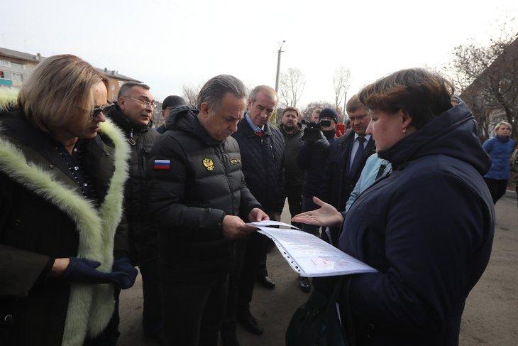 В Нижнеудинске. Фото пресс-службы правительства Иркутской области