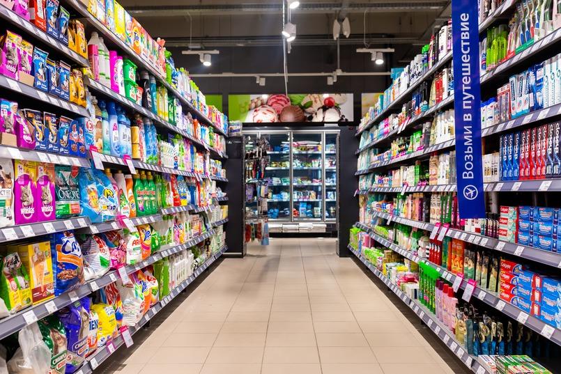 В супермаркете всё продумано так, чтобы покупателю было удобно