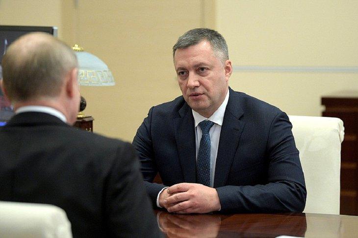 Встреча Путина с Кобзевым. Фото с сайта Кремля