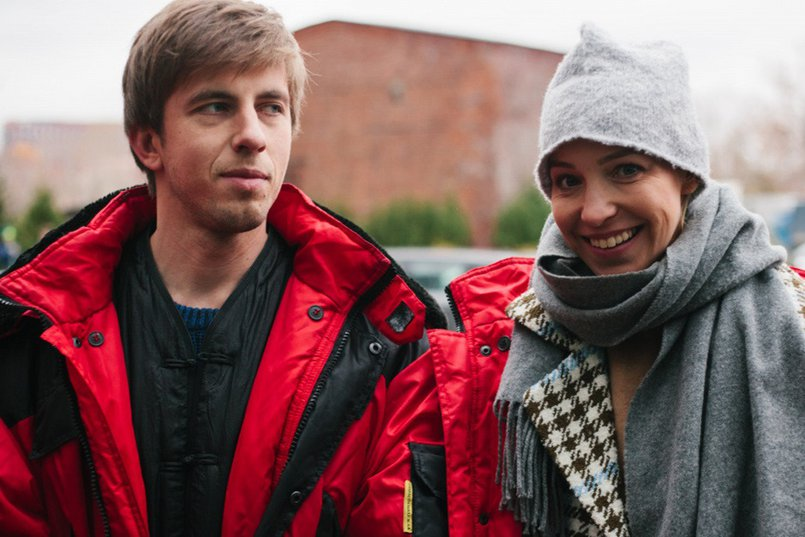 Александр Паль и Мария Шалаева на съемках сериала