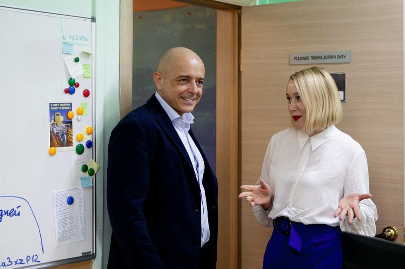 Сергей Сокол и генеральный директор IRK.ru Анна Суркова