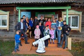 Первый телескоп проекта «Телескопы для всех» в селе Белоусово Качугского района