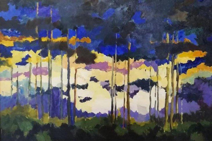 Работа Юлии Бардиной «Байкал. Закат». Фото предоставлено пресс-службой музея