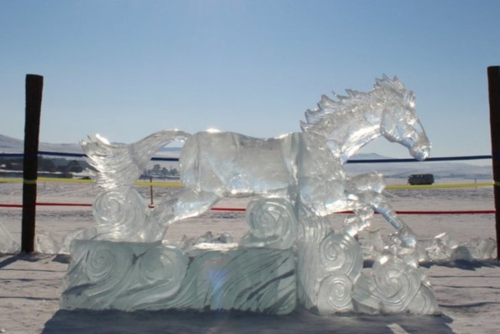 На фестивале Olkhon Ice Fest. Фото пресс-службы правительства Иркутской области