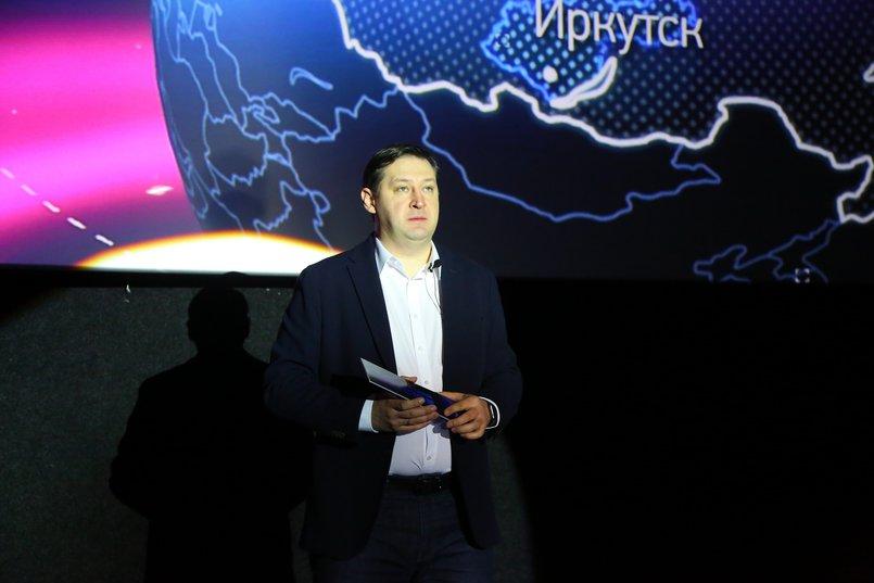 Сергей Ратиев на презентации проекта