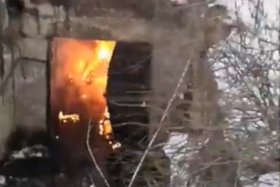 Пожар на территории Усольехимпрома. Скриншот видео