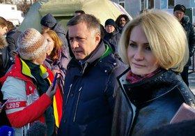 Игорь Кобзев и Виктория Абрамченко. Фото IRK.ru