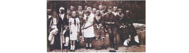 Иркутские пионеры в гостях у раненых в одном из госпиталей г. Иркутска