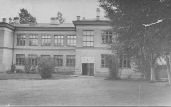 Учебный корпус педагогического училища. 1939 год, вид со двора. Фото с сайта irkpo.ru