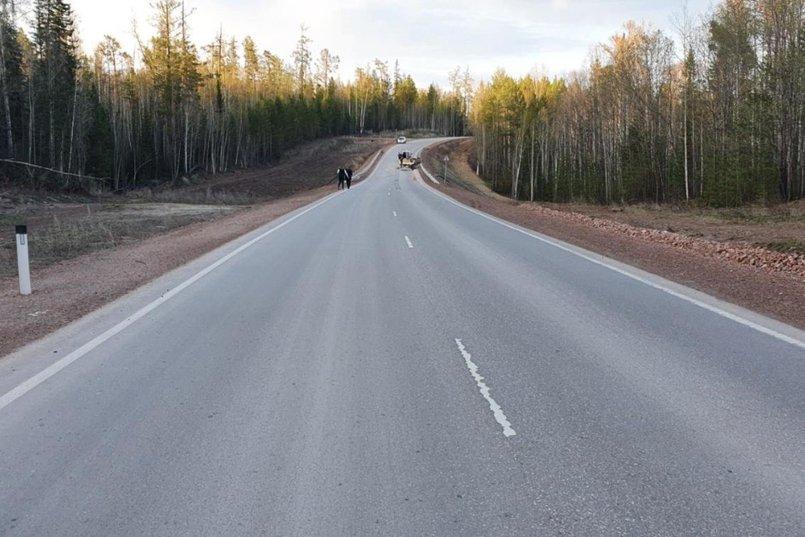ДТП на 43-м километре дороги поселок Хребтовая-поселок Новоилимск