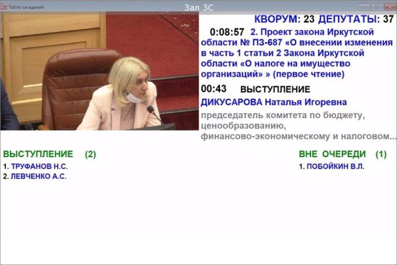 Первой слово взяла Наталья Дикусарова. Скриншот заседания