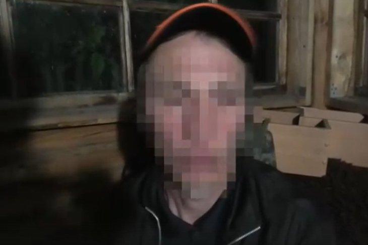 Подозреваемый. Изображение с видео пресс-службы ГУ МВД России по Иркутской области