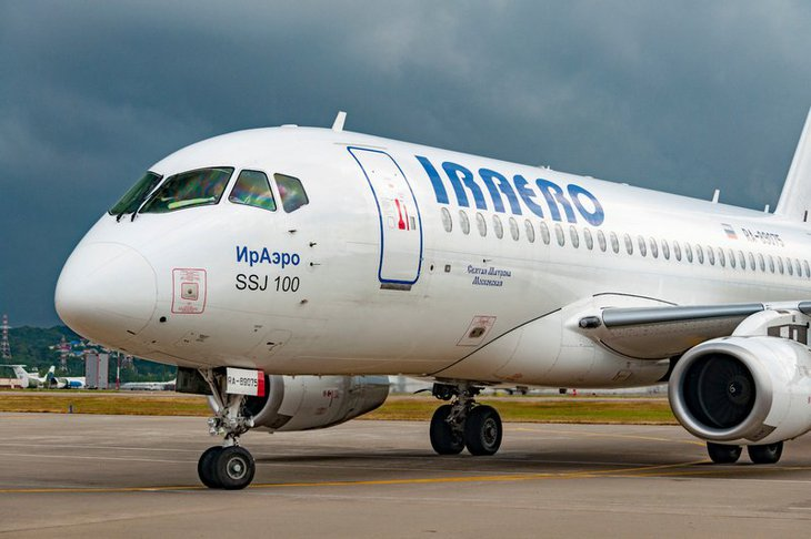 Самолет. Фото пресс-службы авиакомпании «ИрАэро»