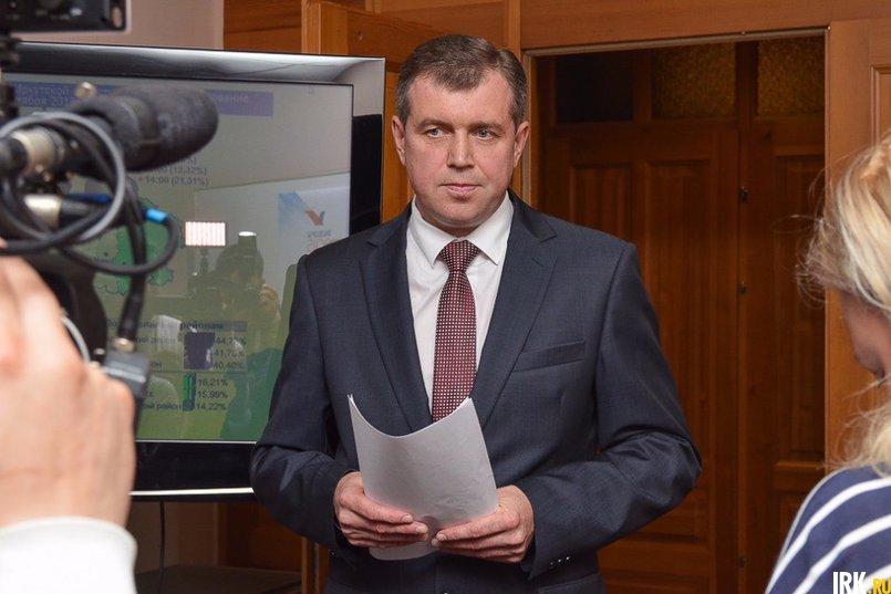 Илья Дмитриев, председатель Избирательной комиссии Иркутской области. Фото Ильи Татарникова