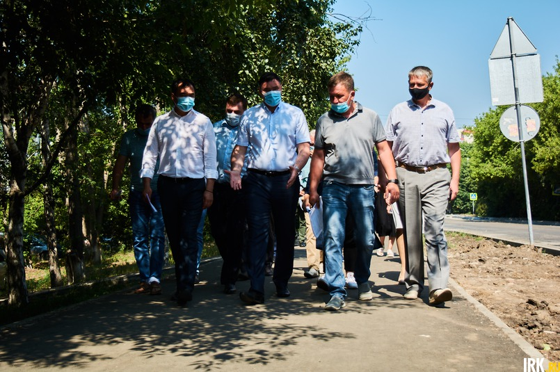 Первым посетили участок от улицы Захарова до микрорайона Приморский